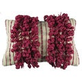 Fuchsia Fringe Down Filled Decorative Pillow