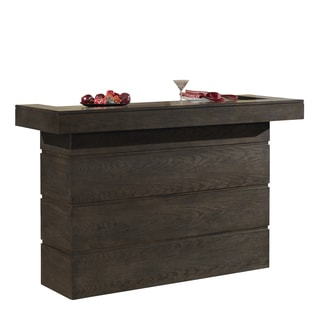 Solace Brown Oak Wood Mini Bar