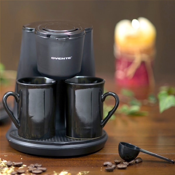 Ovente Black 2-cup Coffee Maker - Overstock Shopping - Great Deals on Ovente Coffee Makers