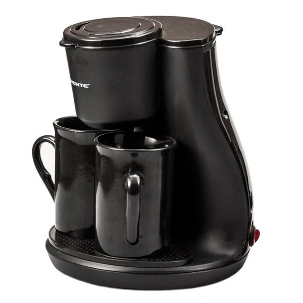 Ovente Black 2-cup Coffee Maker