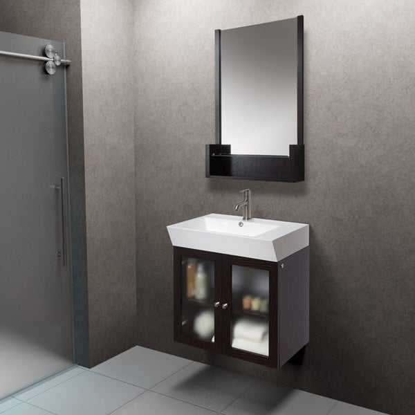 vigo 25 inch single bathroom vanity with mirror 15927102 overstock