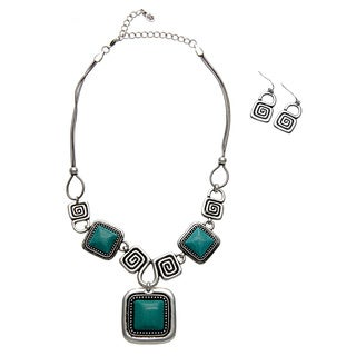 Elana Turquoise and Earring Jewelry Set