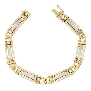 Fremada 10k Two-tone Gold 8.5-mm Designer Men's Bracelet (8.25 inch)