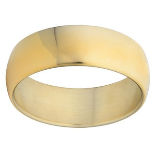 Oro Forte 14k Yellow Gold Bold Polished Wide Round Bangle