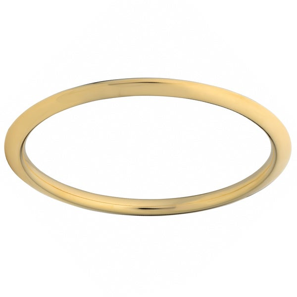Oro Forte 14k Yellow Gold Knife Edge Slip-on Bangle