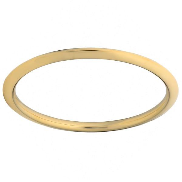 Oro Forte 14k Yellow Gold Knife Edge Slip-on Bangle