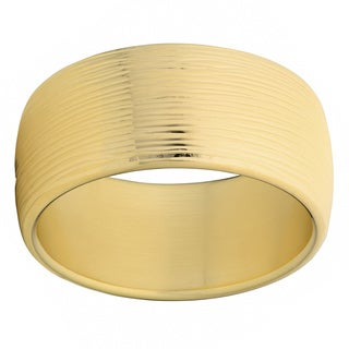 Oro Forte 14k Yellow Gold Bold Textured Round Bangle