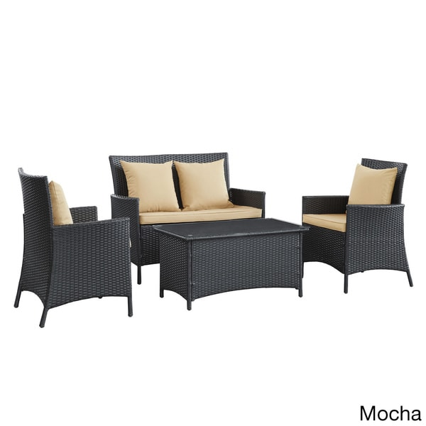 Flourish 4-piece Outdoor Wicker Rattan Set