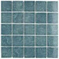 SomerTile 12x12 Paradise Palm Green 0.188-in Porcelain Mosaic Tile (Pack of 10)