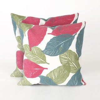 Cut Leaves 20-inch Decorative Pillows (Set of 2)