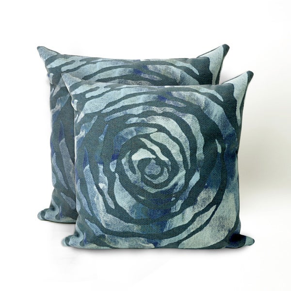 Dyed Roses 20-inch Decorative Pillows (Set of 2)