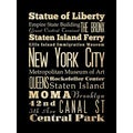 'New York City' Unframed Print Art