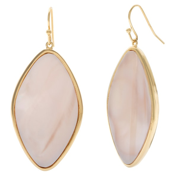 La Preciosa Sterling Silver Gold-Plated Mother of Pearl Earrings