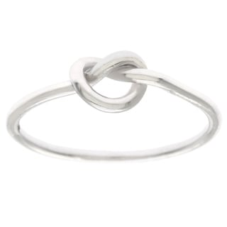 La Preciosa Sterling Silver Small Love Knot Ring