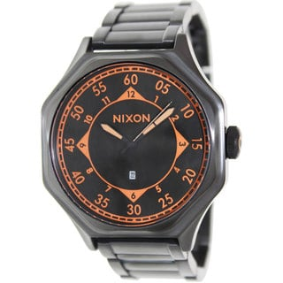 Nixon Men's 'Falcon' Black Stainless Steel Analog Quartz Watch
