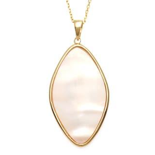 La Preciosa Sterling Silver Gold-Plated Pink Mother of Pearl Pendant