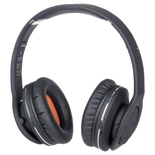 Manhattan Fathom Over-Ear Headphones with Bluetooth Technology, Black