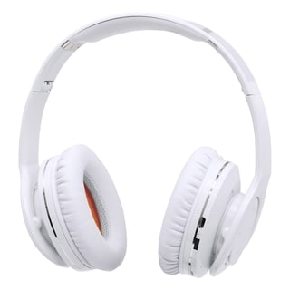 Manhattan Fathom Over-Ear Headphones with Bluetooth Technology, White