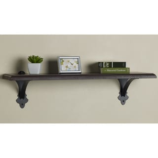 Melannco 24-inch Brown Metal/ Wood Shelf