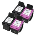 HP 60XL Black and Color High Yield Ink Cartridge Set (Remanufactured) (Pack of 4)