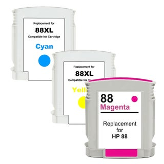 HP 88XL CYM Compatible High Yield Ink Cartridge Set (Pack of 3) (Remanufactured)