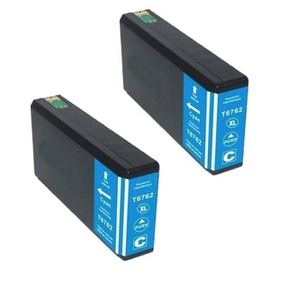 Epson 676XL (T676XL220) Cyan High Yield Compatible Ink Cartridge (Pack of 2) (Remanufactured)