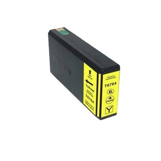 Epson 676XL (T676XL420) Yellow High Yield Compatible Ink Cartridge (Remanufactured)