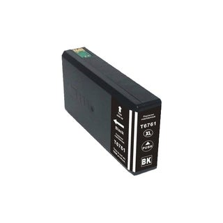 Epson 676XL (T676XL120) Black High Yield Compatible Ink Cartridge (Remanufactured)