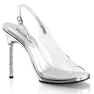Fabulicious Women's 'Chic-18' Clear Peep-toe Slingback Sandals