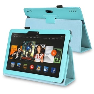 BasAcc PU Folio Stand Leather Cover Case for Amazon Kindle Fire HDX 8.9-inch