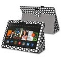 BasAcc Black/ White Dot Stand Leather Case for Amazon Kindle Fire HDX 8.9-inch