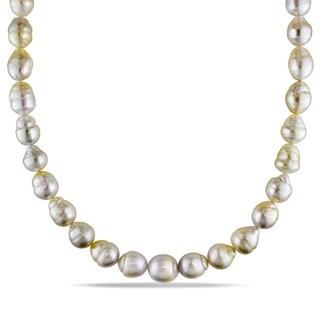 Miadora 14k Yellow Gold South Sea Baroque Pearl Necklace (9-12 mm)