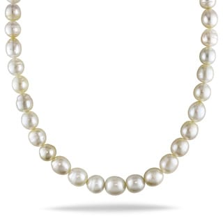 Miadora 14k Yellow Gold South Sea Baroque Pearl Necklace (10-14 mm)