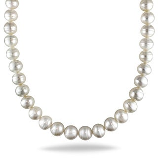 Miadora Signature Collection 14k Yellow Gold South Sea Pearl Necklace (10-13 mm)