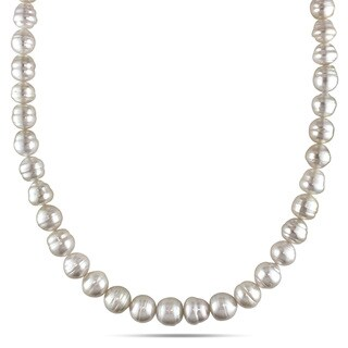 Miadora 14k Yellow Gold South Sea Baroque Pearl Necklace (8-11 mm)