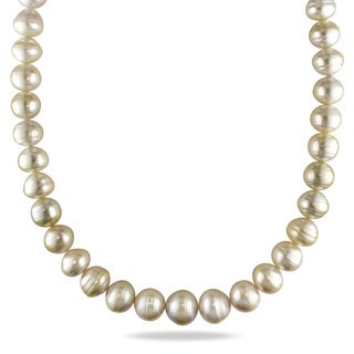 Miadora Signature Collection 14k Yellow Gold South Sea Pearl Necklace (12-14.5 mm)