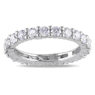 Miadora 14k White Gold 2ct TDW Round Diamond Full Eternity Ring (G-H, I1)