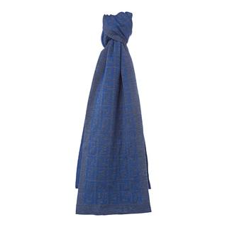 Fendi Blue Wool Zucca Knit Scarf