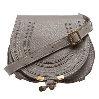 Chloe 'Marcie' Mini Grey Round Crossbody Bag