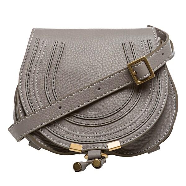 Chloe 'Marcie' Mini Grey Round Crossbody Bag