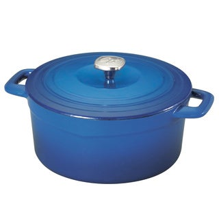 Guy Fieri Blue Cast Iron Porcelain 5.5-quart Dutch Oven