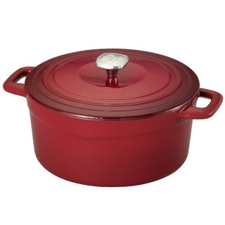 Guy Fieri Red 5.5-quart Cast Iron/ Porcelain Dutch Oven