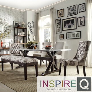 INSPIRE Q Trumbull Stainless Steel  Dining Table