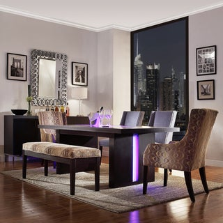 Inspire Q Caley II Modern LED Rectangular Dining Table