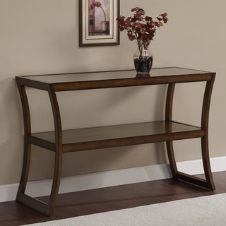 Rectangular Walnut Glass-top Sofa Table