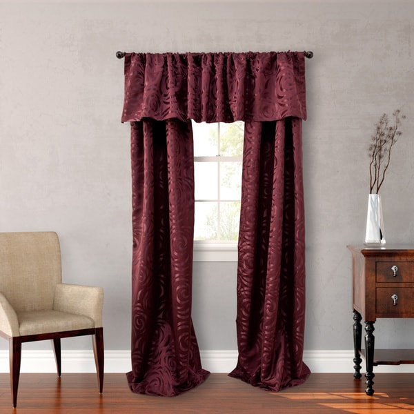 Nicole Miller Red Polyester 84-inch Madison 4-piece Lined Curtain Panel Pair