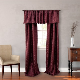 Nicole Miller Red Polyester 18-inch Madison Valance