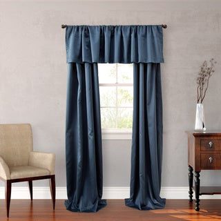 Nicole Miller Blue Polyester 84-inch Midnight Floral 4-piece Lined Curtain Panel Pair