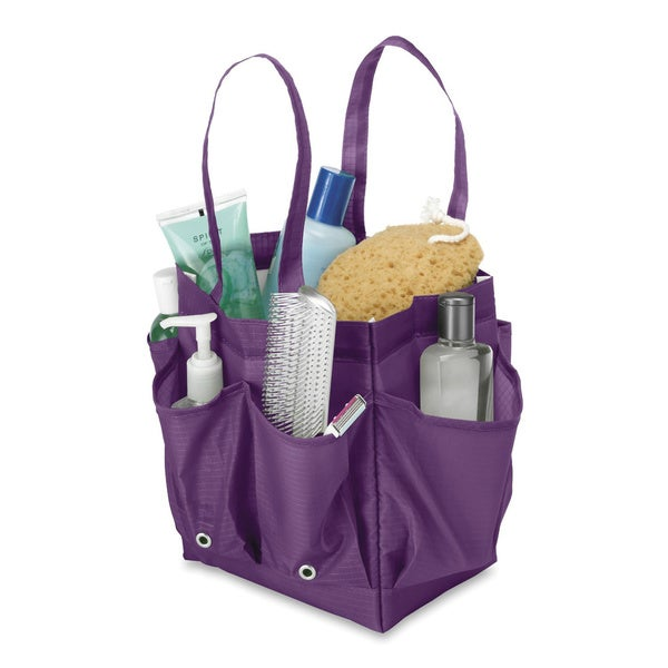 Purple Shower Caddy with Handles