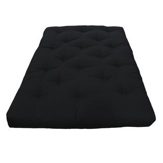 Black 5-inch Full-size Plush Futon Mattress